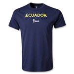 Ecuador 2014 FIFA World Cup Brazil(TM) Palm T-Shirt (Navy)