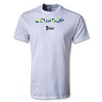 Ecuador 2014 FIFA World Cup Brazil(TM) Palm T-Shirt (White)