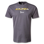 Colombia 2014 FIFA World Cup Brazil(TM) Palm T-Shirt (Dark Gray)
