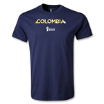 Colombia 2014 FIFA World Cup Brazil(TM) Palm T-Shirt (Navy)
