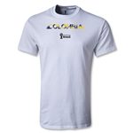 Colombia 2014 FIFA World Cup Brazil(TM) Palm T-Shirt (White)
