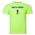South Korea 2014 FIFA World Cup Brazil(TM) Men's Core T-Shirt (Neon Green)