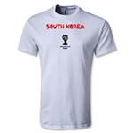South Korea 2014 FIFA World Cup Brazil(TM) Men's Core T-Shirt (White)