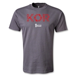 South Korea 2014 FIFA World Cup Brazil(TM) Men's Elements T-Shirt (Dark Gray)