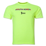 South Korea 2014 FIFA World Cup Brazil(TM) Men's Palm T-Shirt (Neon Green)