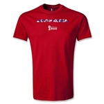 South Korea 2014 FIFA World Cup Brazil(TM) Men's Palm T-Shirt (Red)