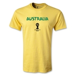 Australia 2014 FIFA World Cup Brazil(TM) Men's Core T-shirt (Yellow)