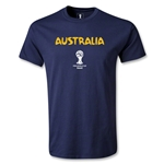 Australia 2014 FIFA World Cup Brazil(TM) Men's Core T-shirt (Navy)