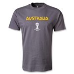 Australia 2014 FIFA World Cup Brazil(TM) Men's Core T-shirt (Dark Gray)