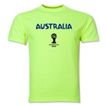 Australia 2014 FIFA World Cup Brazil(TM) Men's Core T-Shirt (Neon Green)