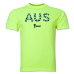 Australia 2014 FIFA World Cup Brazil(TM) Men's Elements T-Shirt (Neon Green)