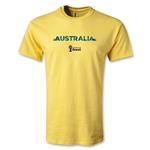 Australia 2014 FIFA World Cup Brazil(TM) Men's Palm T-Shirt (Yellow)