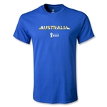 Australia 2014 FIFA World Cup Brazil(TM) Men's Palm T-Shirt (Royal Blue)