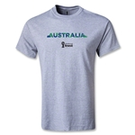 Australia 2014 FIFA World Cup Brazil(TM) Men's Palm T-Shirt (Gray)