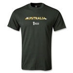 Australia 2014 FIFA World Cup Brazil(TM) Men's Palm T-Shirt (Dark Green)