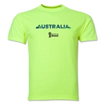 Australia 2014 FIFA World Cup Brazil(TM) Men's Palm T-Shirt (Neon Green)