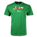 Iran 2014 FIFA World Cup Brazil(TM) Men's Palm T-Shirt (Green)