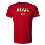 Iran 2014 FIFA World Cup Brazil(TM) Men's Palm T-Shirt (Red)