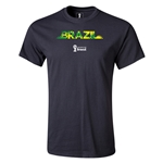Brazil 2014 FIFA World Cup Brazil(TM) T-Shirt (Black)