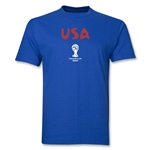 USA 2014 FIFA World Cup Brazil(TM) Men's Basic Core T-Shirt (Royal)
