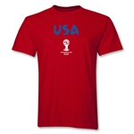 USA 2014 FIFA World Cup Brazil(TM) Men's Basic Core T-Shirt (Red)