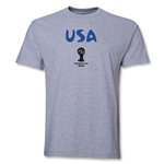 USA 2014 FIFA World Cup Brazil(TM) Men's Basic Core T-Shirt (Grey)