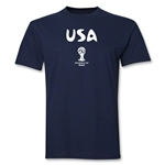 USA 2014 FIFA World Cup Brazil(TM) Men's Basic Core T-Shirt (Navy)