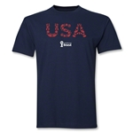 USA 2014 FIFA World Cup Brazil(TM) Elements T-Shirt (Navy)