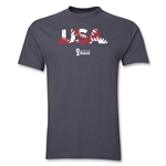 USA 2014 FIFA World Cup Brazil(TM) Palm T-Shirt (Dark Gray)