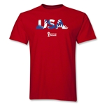 USA 2014 FIFA World Cup Brazil(TM) Palm T-Shirt (Red)