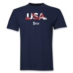 USA 2014 FIFA World Cup Brazil(TM) Palm T-Shirt (Navy)