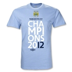 Manchester City 2012 Official League Champions T-Shirt (Sky Blue)