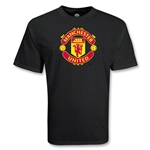 Manchester United Big Crest Soccer T-Shirt (Black)