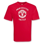 Manchester United College Style Crest T-Shirt (Red)