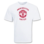 Manchester United College Style Crest T-Shirt (White)