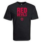 Manchester United Red Devils Soccer T-Shirt (Black)