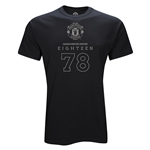 Manchester United Eighteen 78 T-Shirt (Black)