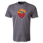 AS Roma Crest T-Shirt (Dark Gray)