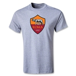 AS Roma Crest T-Shirt (Gray)