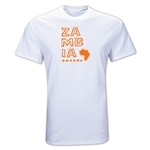 Zambia Country T-Shirt (White)