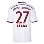 Bayern Munich 14/15 ALABA Away Soccer Jersey