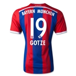 Bayern Munich14/15 GOTZE Authentic Home Soccer Jersey