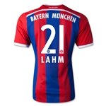Bayern Munich 14/15 LAHM Authentic Home Soccer Jersey