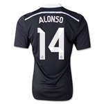 Real Madrid 14/15 ALONSO Authentic Third Soccer Jersey