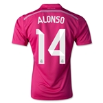 Real Madrid 14/15 ALONSO Away Soccer Jersey