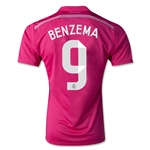 Real Madrid 14/15 BENZEMA Away Soccer Jersey