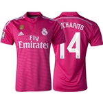 Real Madrid 14/15 CHICHARITO Away Soccer Jersey w/ Club World Cup Badge