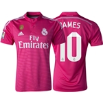 Real Madrid 14/15 JAMES Away Soccer Jersey w/ Club World Cup Badge