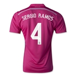 Real Madrid 14/15 SERGIO RAMOS Authentic Away Soccer Jersey