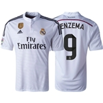 Real Madrid 14/15 BENZEMA Home Soccer Jersey w/ Club World Cup Badge